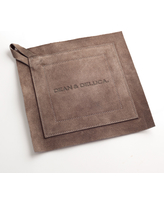 DEAN & DELUCA Gray Suede Potholders-Large
