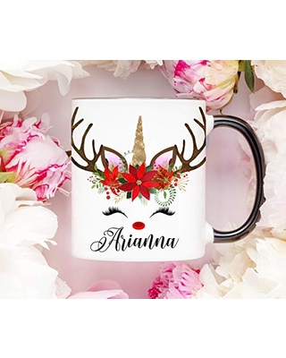 Christmas Mugs Personalized Family Gifts Reindeer Coffee Cup