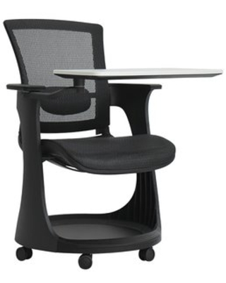 """Manufactured Wood 37"""" Combination Desk Eurotech Seating Frame Finish: Black"""