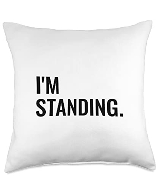 Statement Blend I'm standing. Throw Pillow, 18x18, Multicolor
