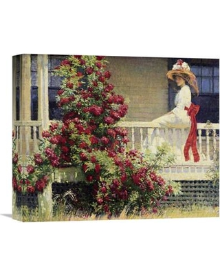 """Global Gallery 'The Crimson Rambler' by Philip Leslie Hale Painting Print on Wrapped Canvas GCS-282162 Size: 13.36"""" H x 16"""" W x 1.5"""" D"""