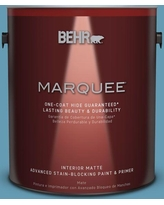 Great Deal On Behr Marquee 1 Qt S490 4 Yacht Blue One Coat Hide Matte Interior Paint Primer