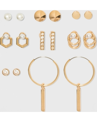 b5cd9d733 Amazing Deal on Pearls, Ball, Stud and Hoop 8pk Multi Earring Set ...
