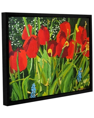 """ArtWall Allan Friedlander """"Red, White, And Blue"""" Gallery-wrapped Floater-framed Canvas"""