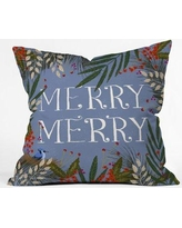 East Urban Home Joy Laforme Christmas Merry Merry Wreath Euro Pillow EUHG2555