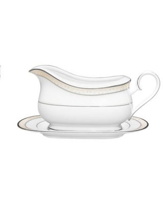 Noritake® Montvale Platinum Gravy Boat with Stand