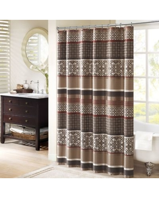 Madison Park Princeton 72-Inch Shower Curtain in Red