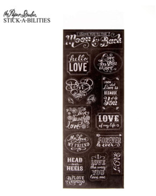 Love You To The Moon Chalk Stickers