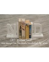 Letter Bookends, Initial Bookends, Wooden Custom Bookends - Custom Created to Coordinate with Your Decor (alphabet bookends, name bookends)