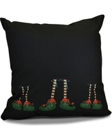 "The Holiday Aisle Elfin Magic Throw Pillow HLDY1520 Size: 26"" H x 26"" W"