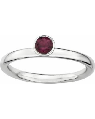 Stacks and Stones Sterling Silver Rhodolite Garnet Stack Ring, Women's, Size: 10, Red