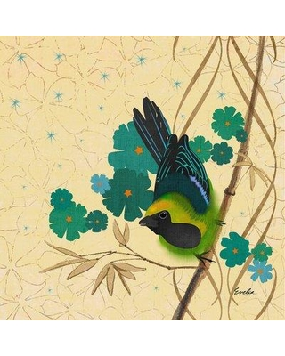 """Marmont Hill 'Hooded Oriole Green' by Evelia Painting Print on Wrapped Canvas ET-MWW-ES-4022-C- Size: 24"""" H x 24"""" W"""
