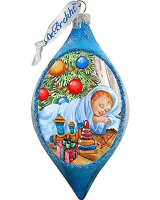 Big Deal On G Debrekht Led Baby 1st Christmas Glass Ornament Drop
