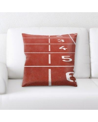 East Urban Home Athletic Field Throw Pillow W000966683
