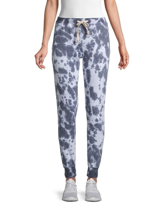 Theo & Spence Women's Tie-Dyed Jogger Pants - Dark Blue - Size M