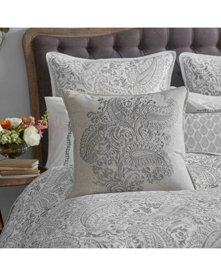 County Road Paisley Bouquet Embroidered Paisley Square Toss Pillow PBSTP1113