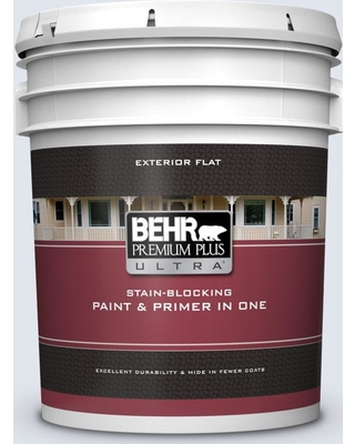 BEHR ULTRA 5 gal. #600E-1 Genteel Lavender Flat Exterior Paint and Primer in One
