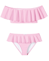 Girl's Stella Cove Off The Shoulder Ruffle Two-Piece Swimsuit, Size 4Y - Pink