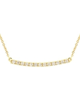 Women's Bony Levy Stick Pave Diamond Bar Necklace (Nordstrom Exclusive)