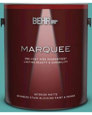 BEHR MARQUEE 1 gal. #500D-5 Teal Zeal Matte Interior Paint & Primer
