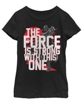 Star Wars Black Girls 7-16 Force Is Strong Darth Vader Short Sleeve Graphic T-Shirt