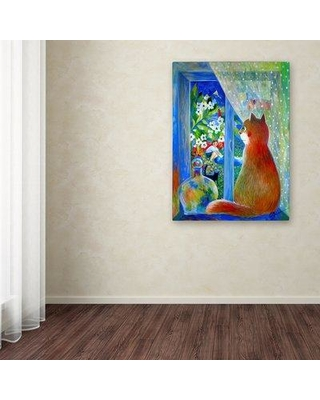 """Ebern Designs 'After the Storm' Graphic Art Print on Wrapped Canvas EBND8309 Size: 32"""" H x 24"""" W"""