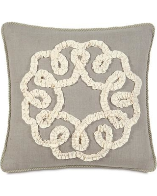 Amazing Deal On Eastern Accents Sabelle Breeze Linen Ruffled Ribbon Throw Pillow Sab 02