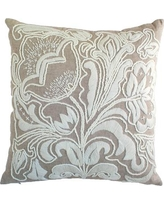 India's Heritage Hand Embroidery Throw Pillow C845