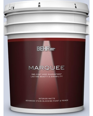 BEHR MARQUEE 5 gal. #600E-2 Harbor Mist Matte Interior Paint and Primer in One