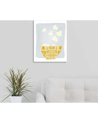 """GreatBigCanvas """"Bowl of Popcorn""""by Linda Woods Canvas Wall Art, Multi-Color"""