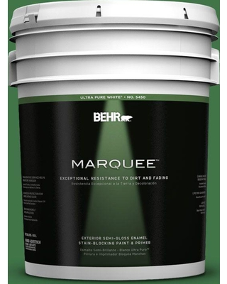 BEHR MARQUEE 5 gal. #P410-7 Grasslands Semi-Gloss Enamel Exterior Paint and Primer in One