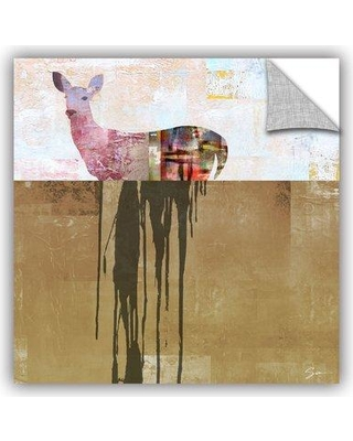 """ArtWall Dissolve II' by Greg Simanson Removable Wall Decal in Brown/Beige, Size 36"""" H x 36"""" W x 0.1"""" D   Wayfair 0sim007a3636p"""