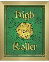 """Click Wall Art High Roller Framed Painting Print on Canvas in Emerald GRM0000129FRM Format: Gold Framed, Size: 22.5"""" H x 18.5"""" W"""