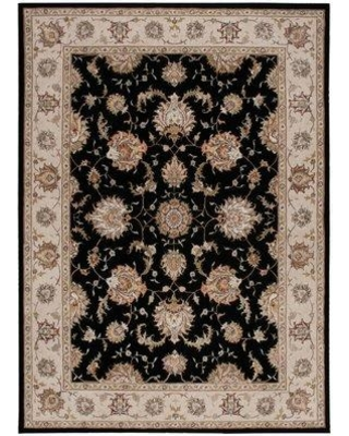 Michael Amini Serenade Hand-Tufted Wool Black Area Rug 841491100 Rug Size: Rectangle 8' X 11'