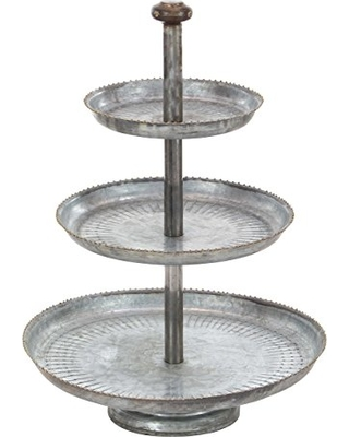 b33448119bc Great Deal on Deco 79 Farmhouse 3-Tiered Round Metal Tray Stand
