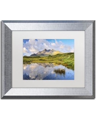 """Trademark Art Cuillin Reflection' Framed Photographic Print on Canvas ALI2341-S1 Size: 11"""" H x 14"""" W x 0.5"""" D Matte Color: White"""