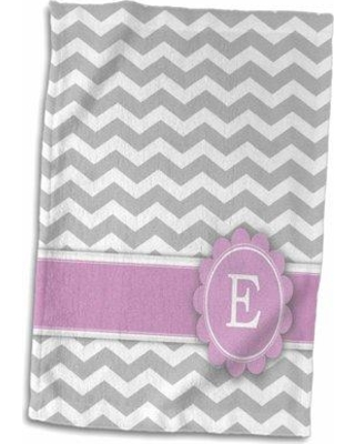 Symple Stuff Henline Letter E Monogrammed on And Chevron with Hand Towel W000516952 Letter: J
