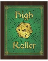 """Click Wall Art High Roller Framed Painting Print on Canvas in Emerald GRM0000129FRM Size: 11"""" H x 14"""" W, Format: Espresso Framed"""