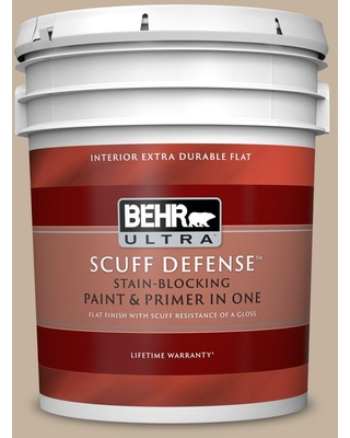 BEHR ULTRA 5 gal. #ECC-20-1 Canyon View Extra Durable Flat Interior Paint & Primer