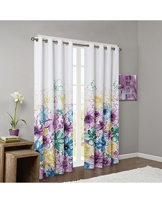 Intelligent Design Blue Blackout Curtains For Bedroom, Casual Room  Darkening Window Curtains For Living Room
