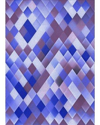 East Urban Home Abstract Wool Purple/Blue Area Rug X113648588 Rug Size: Rectangle 2' x 4'