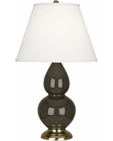 Robert Abbey Brown Tea and Brass Table Lamp