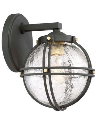 "Gracie Oaks T.S. 1-Light Outdoor Wall Lantern HSLT7889 Size: 10.25"" H x 7.25"" W x 8.25"" D"