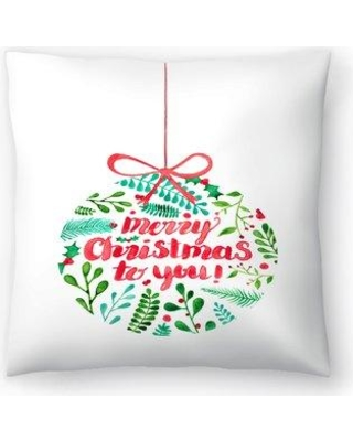 "East Urban Home Elena O'Neill Merry Christmas Throw Pillow EUHG3468 Size: 20"" x 20"""