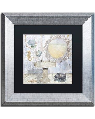 """Trademark Fine Art 'Beach House II' by Color Bakery Framed Graphic Art ALI4798-S1 Size: 11"""" H x 11"""" W x 0.5"""" D Matte Color: Black"""