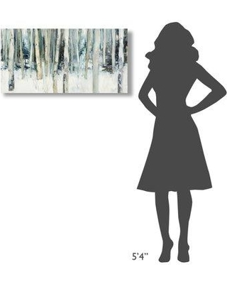 """East Urban Home 'Winter Woods III' Print on Wrapped Canvas EUNM6222 Size: 18"""" H x 36"""" W"""
