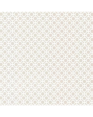 Brewster Beatrix Grey Modern Geometric Wallpaper