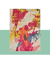 Hashtag Home Andrei Abstract Pink/Gray Area Rug X111279616 Rug Size: Rectangle 5' x 8'
