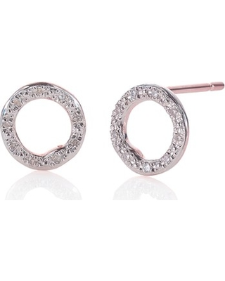 Women's Monica Vinader 'Riva' Circle Stud Diamond Earrings