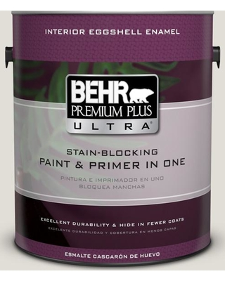 BEHR ULTRA 1 gal. #PPU24-15 Mission White Eggshell Enamel Interior Paint and Primer in One